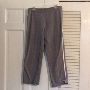 Gray athletic pants